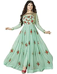Ethnic Empire Designer Beautiful Light Green Flower Long Anarkali Suit For Women & Girls Party Wear Stitched For...