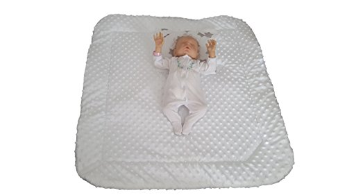 blueberryshop Minky sehr warm und Cute Comfort Wickeltuch/Decke mit Kissen für Baby, weiß