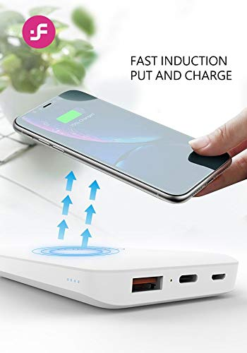 i-FiX Chrome 10000 Mah Wireless Power Bank with 2.4A Fast Charging Dual Ports with Type-C and Micro USB Charging Image 4
