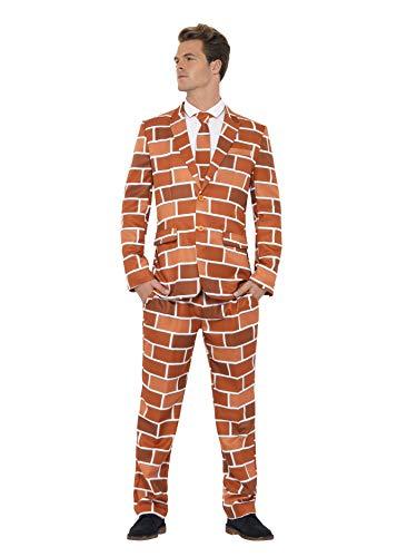 (Smiffys, Herren Off The Wall Anzug, Jackett, Hose, und Krawatte, Größe: L, 40087)
