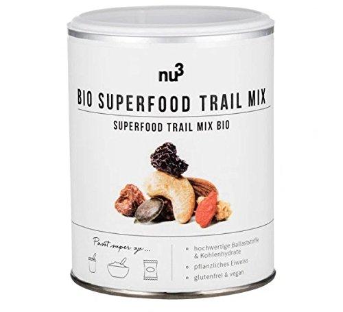 nu3 Bio Superfood Trail Mix – 150g Nuss Mix + Beeren – natürlich veganer Snack – Premium Mix aus Früchten und Nüssen – Studentenfutter 2.0 – Glutenfrei ohne Konservierung & Vegan – ohne Salz