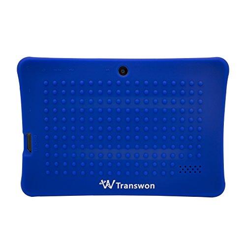 Transwon Stoßfeste kindertaugliche Silikonhülle Case Schutzhülle Tasche für 7 Zoll Android Tablet-PC Inklusive. Dragon Touch Y88X Plus 7 Zoll, JEJA 7 Zoll Android Google Tablet PC, Alldaymall A88X / A88S / A88SK 17 8 cm, XIDO X70, iRULU eXpro X1 7 Zoll Tablet PC, Yuntab 7 Zoll Q88 Y88 Tablet PC, iRULU BabyPad 1 Tablet PC (Y1), Haehne MiniPad 7 Zoll, NINETEC 7 Zoll Tablet, Eagletech 7 Inch 16GB Tablet PC, PHROG7 Tablet PC (7 Zoll), Rixow Ultrathin 7 Inch (Marineblau)