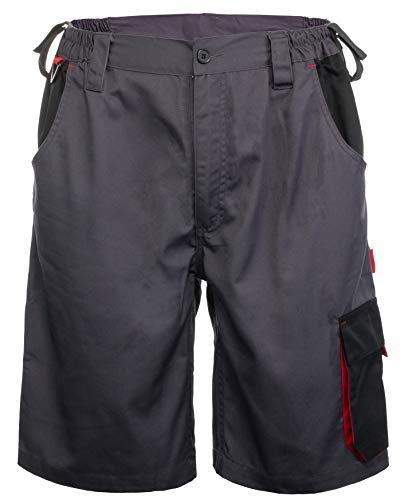 Brandsseller Arbeitshose Arbeitskleidung Arbeits-Shorts Kurz Anthrazit/Schwarz L/52/54