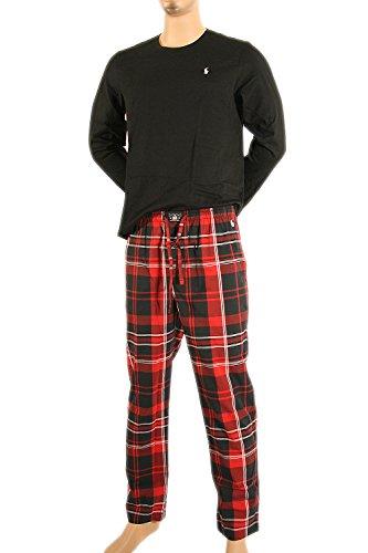 Polo Ralph Lauren Pyjama L/S CREW + PJ PANT GIFT BOX M Multi (001) (Plaid Shirt Schwarz Woven)