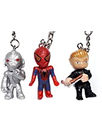 Blue Aura Combo Of 3 Superhero Inspired Spiderman \ Quick Silver \ Clint Barton Mini Keychain HEIGHT - 4 CM Collectible...