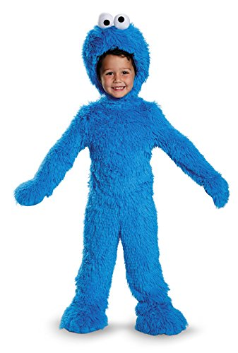 Kostüm Cookie Herren Für Monster - Disguise 76873W Cookie Monster Extra Deluxe Plush Costume, (12-18 Months)