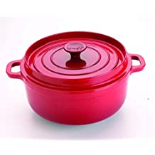 Invicta - 302320 rubis - Cocotte ronde en fonte émaillée 32cm rouge Mijoteuse