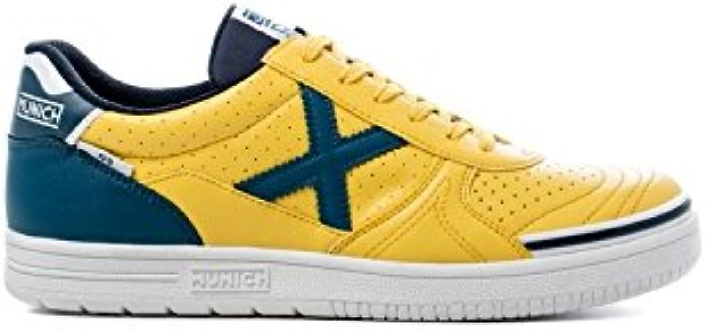 Munich G3 Profit Scarpe da calcetto con suola liscia, Coloreeee  giallo blu, giallo, 45 | flagship store  | Uomini/Donne Scarpa