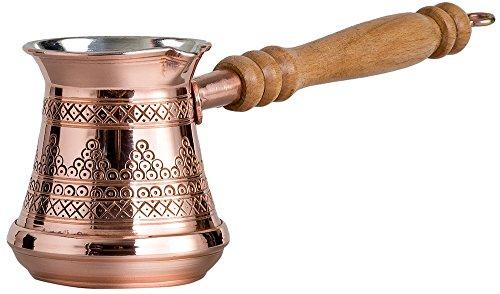 CopperBull Dicksten Massiv Premier Graviert Kupfer Türkische Griechischen Arabische Kaffeekanne...