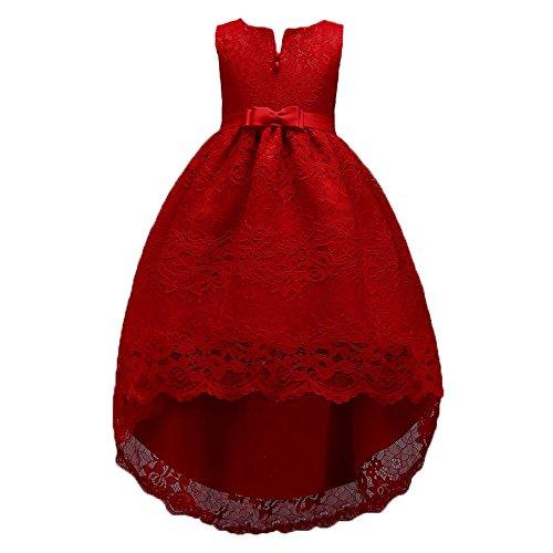 UFODB Baby Festkleider Für Mädchen, Kid Bowknot Lace Zip Prinzessin Kleid Brautjungfer Festzug Beiläufig Retro Party Hochzeit Stickerei Abschlussball Swing ()