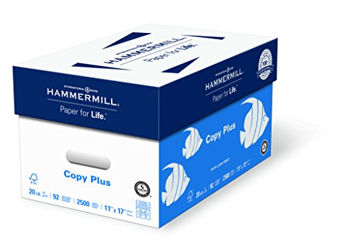 Hammermühle (Technik) Papier, Copy Plus, 9,1kg, 11x 17, Ledger, 92Hell, 2500Blatt/5Ries Fall (105023C), hergestellt in den USA (Hammermill-copy Papier)