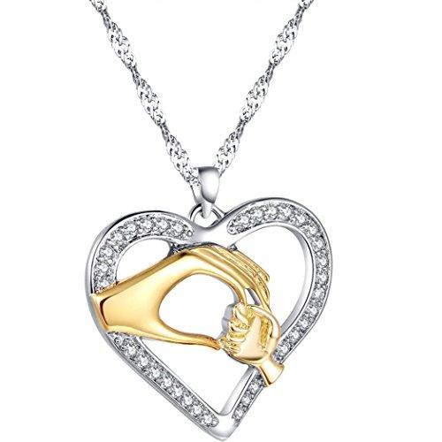 Mom Baby Halskette, Zolimx Silber Finish Muttertag (Gold)