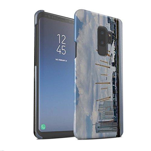 Stuff4® Matte Snap-On Hülle/Case für Samsung Galaxy S9 Plus/G965 / Millennium Dome Muster/Seiten London Kollektion Max-dome