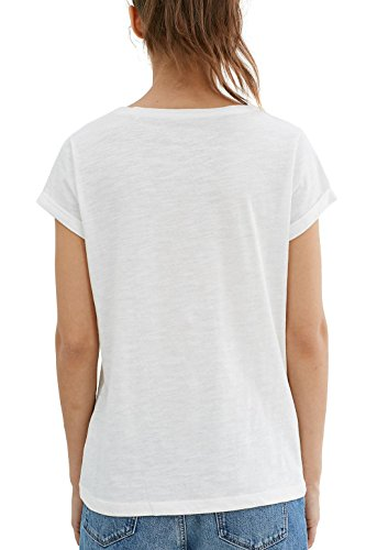 edc by Esprit 037cc1k023, T-Shirt Femme Blanc (Off White)