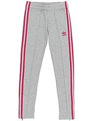 adidas J Trf Ft Pants Pantalón, Niñas, Gris (Brgrin / Rosfue), 164