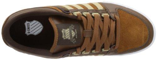 K-Swiss Alvary S VNZ 03103-235-M Herren Sneaker Braun (Cowboy/Cathay spice/Desert/White)