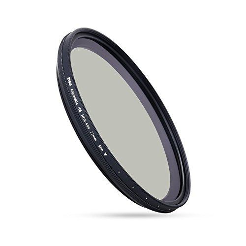 ESDDI 77mm Graufilter Variabler ND Filter Variabel Slim für Professionelle Landschaftsfotografie