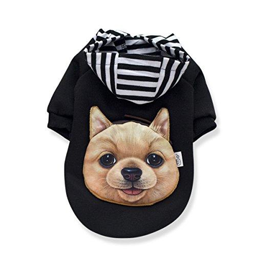 Kostüme Overall Hai Pet (PETCUTE Hund Winter Warm Mit Kapuze Kleider Haustier Kostüm Anzug mit Cap Weihnachten Mantel Bekleidung für kleine mittlere große)