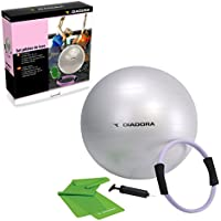 Diadora Fitness A-1301DVD Set Pilates Deluxe con DVD, Blu