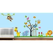 Vinilo de Pared Animales de la Selva para Decoración Infantil - 145 x 191 cm