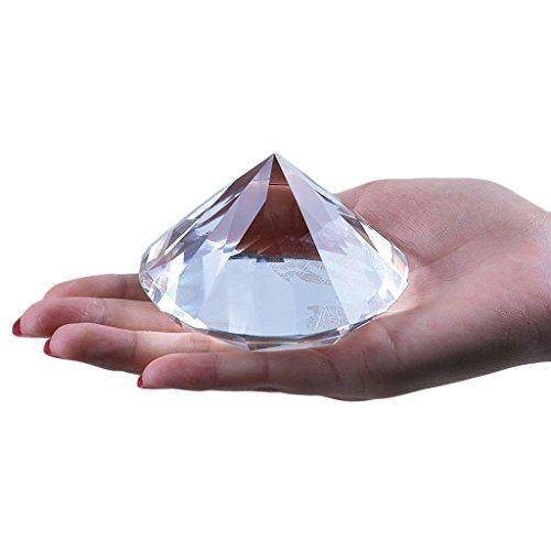 Longwin 80mm W cristal diamante pisapapeles adorno hogar decoracione