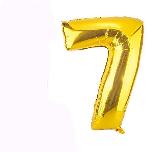 1,6cm Gold groß Folie Helium Alphabet Buchstabe Ballon Hochzeit Party A-Z (A) Zahl 0-9gold ()