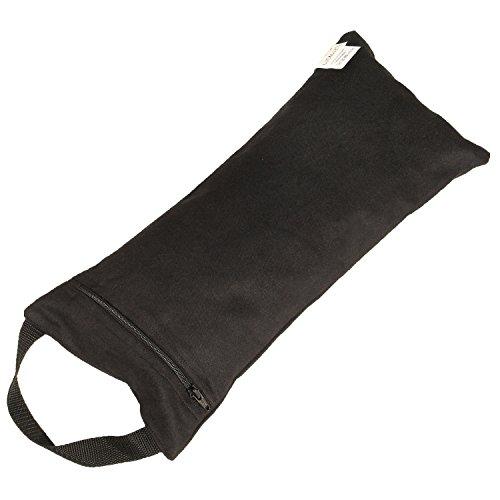 Yoga Sandsack, Sandbag mit Innenbeutel, schwarz, 100% Baumwolle, praktisches Yogahilfsmittel, Yogazubehör