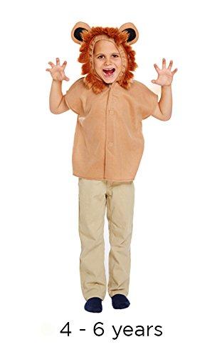 Kinderverkleidung Löwe, Wilder Dschungel, Zootiere, Tierbuch, Film, Kinderkostüm, neu