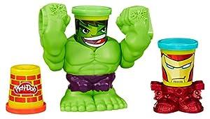 Play-Doh- Smashdown Hulk Featuring Marvel Can-Heads Aplasta la Pasta, Dise&ampntildeo, Juego Creativo, 27.9 x 22.9 x 7.9 (Hasbro B0308EU4)