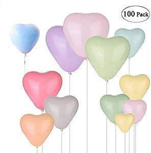 Globos de corazón, 100 Piezas
