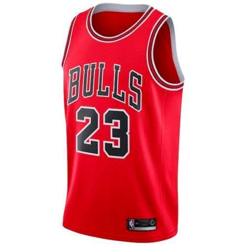 VICTOREM Jersey Bulls Vintage NBA-Champion Michael Jordan Jersey Chicago Bulls Nr. 23 Mesh Basketball Swingman Jersey Basketball Trikot Jungen Herren Männer Fans (Rot, XL) (Trikot Michael Jordan)