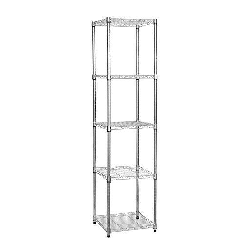 slimline-chrome-wire-shelving-unit-with-5-shelves-h1800-x-w450-x-d450-mm