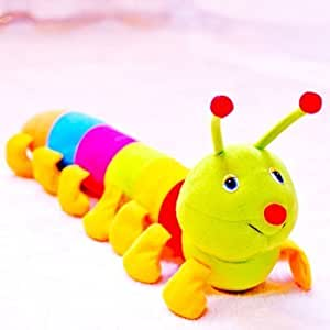 Colorful Large Inchworm Soft Caterpillar Pillow Plush Toy Doll Baby Child Gifts