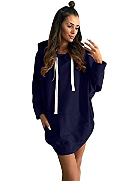 Internet Damen Long Sleeve Hoodie Sweatshirt Lässige Abend Party Minikleid