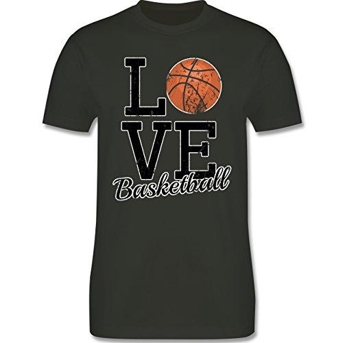 Basketball - Love Basketball - Herren Premium T-Shirt Army Grün
