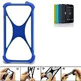 K-S-Trade Bumper für Shift Shift5.2 Silikon Schutz Hülle Handyhülle Silikoncase Softcase Cover Case Stoßschutz, blau (1x)