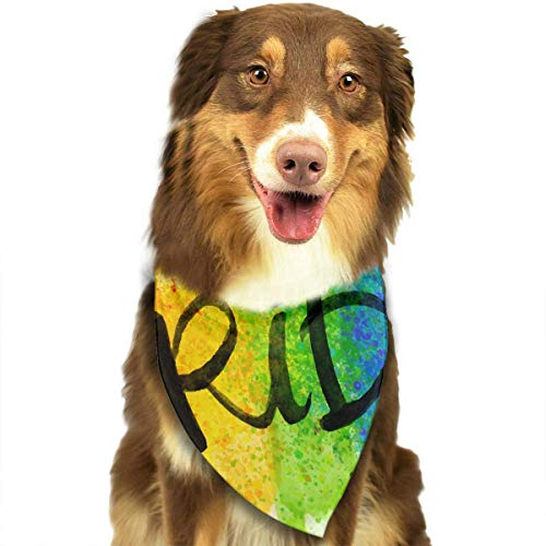 ndana Washable Reversible Triangle Bibs Scarf - Kerchief for Small/Medium/Large Dogs & Cats ()