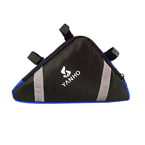 Cocohot Wasserdichte Front Frame Head Triangle Storage Pouch Fahrrad Taschen Blau