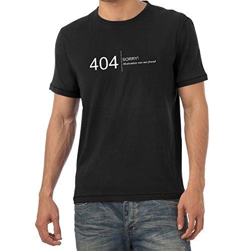 NERDO Motivation was Not Found - Herren T-Shirt, Größe XL, Schwarz 0eacf0168f