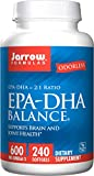 Jarrow Formulas Epa-Dha Balance Odorless Dietary Supplememnt (240 Capsules)