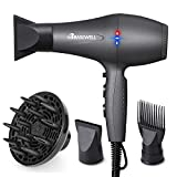 Basuwell Hair Dryer Professional 2100W Salon Hairdryer Ionic Far Infrared 2 Speed 3