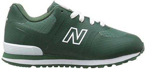 New Balance KL574, Sneakers basses fille Hunter Green/White