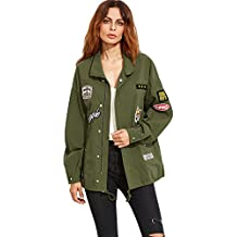 Veste verte militaire femme