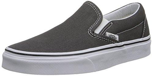 Vans Unisex Classic Slip-On Charcoal Loafers - 7 UK/India 40.5 EU
