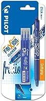 Pilot - Blister FriXion Ball Clicker 0.7 - Roller effaçable - Bleu + 1 set de 3 recharges - Pointe moyenne
