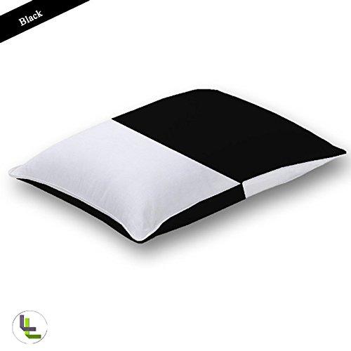 600tc 100% ägyptische Baumwolle elegant Finish 2Multi Farbe Kissenbezug Pair Solide, baumwolle, Black Solid, EU_King_Ikea