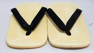 Zori Setta: Zapatos de las sandalias de los hombres auténticos Histórico 26.5cm Diseño Negro Tangas