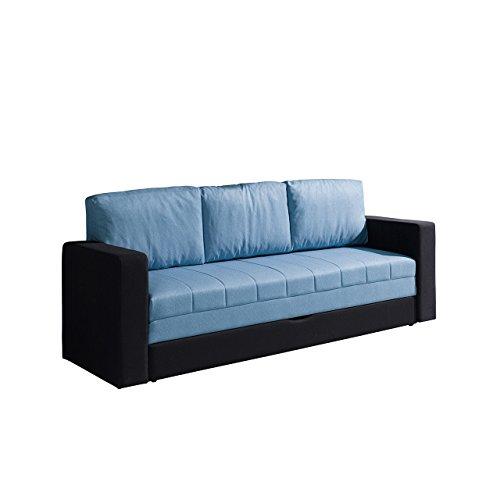 Mirjan24  Elegantes Sofa Calabrini, Couch mit Bettfunktion, Polstersofa mit Bettkasten und Schlaffunktion, Bettsofa (Gomez 12 + Gomez 06)