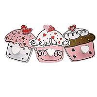 Cupcake Cupcakes Tea Towel Rail Coat Hooks Rack 3 Hooks SG1328