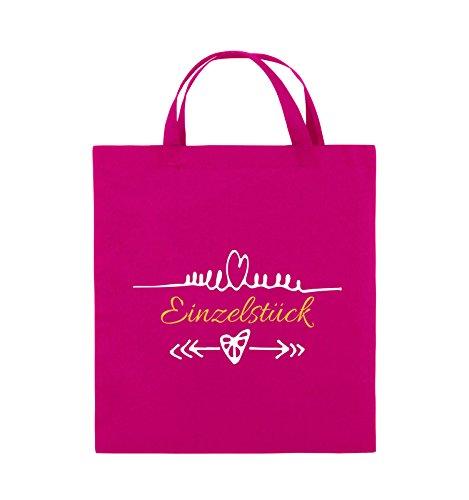 Comedy Bags - Einzelstück - HERZ PFEILE - Jutebeutel - kurze Henkel - 38x42cm - Farbe: Schwarz / Weiss-Neongrün Pink / Gelb-Weiss